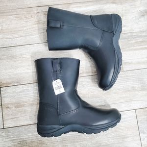 NWT L.L. Bean Black Shearling Lined Leather Boots